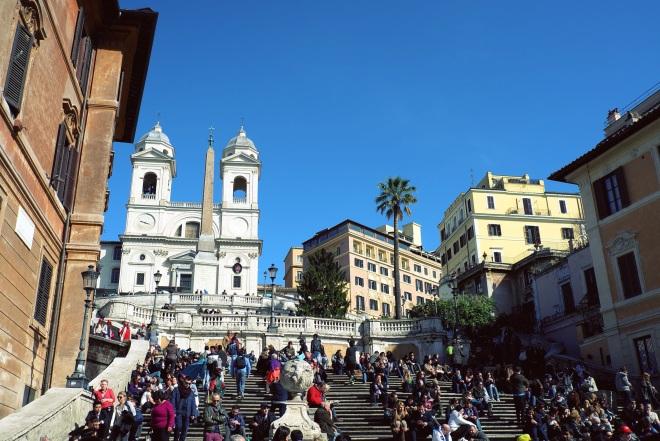 """Испанская лестница. Как будто попала в фильм """"Римские каникулы"""", для фаната Одри это нечто!"""