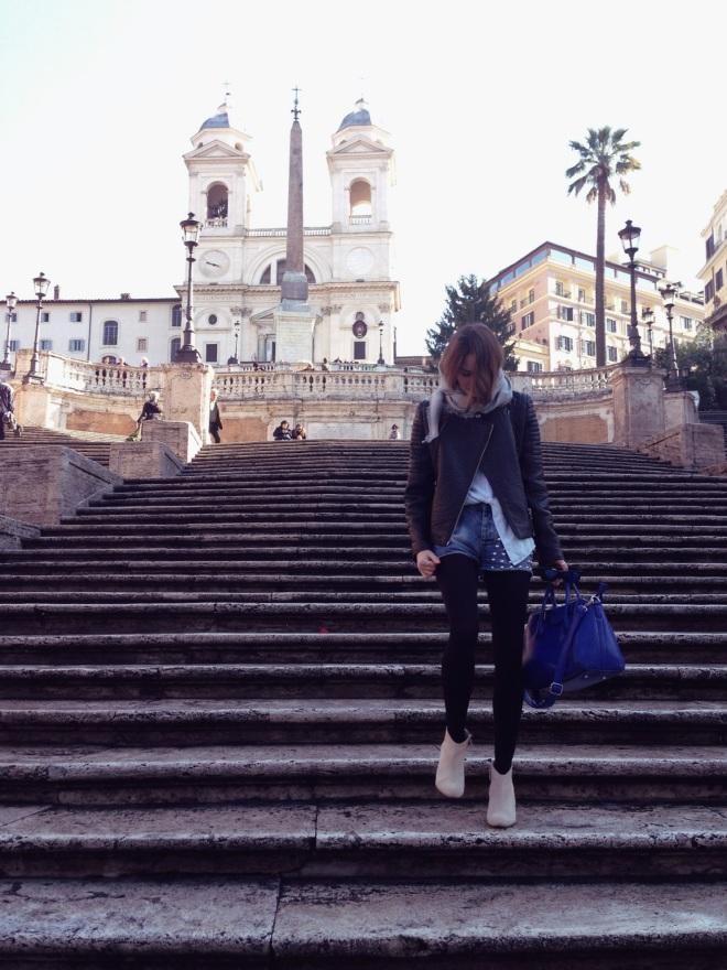 вернулись на Испанскую лестницу в будний день) как тихоо